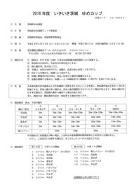 2016年茨城ゆめカップ